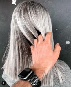 Blond haar grijs ijs kleur Leander Zutphen